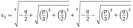 فرمول معادله ی درجه 3